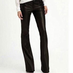 JAG black leather boot cut pants jeans chaps flare